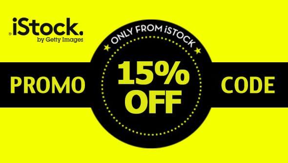 Cupom de desconto especial iStock! 1