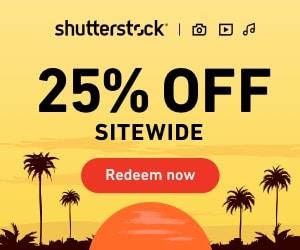 Ganhe 25% OFF em tudo na Shutterstock: válido para imagens, músicas e vídeos. 1