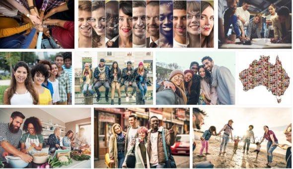 Mosaico de diversidade na Shutterstock