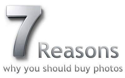7 Razões para comprar fotos