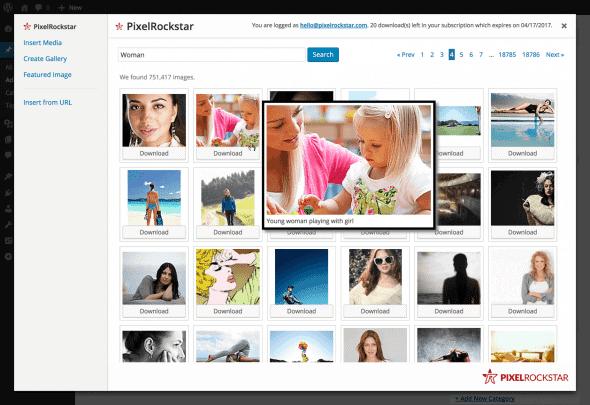 Apresentando PixelRockstar: A Solução em Fotografias para Blogueiros do WordPress 3