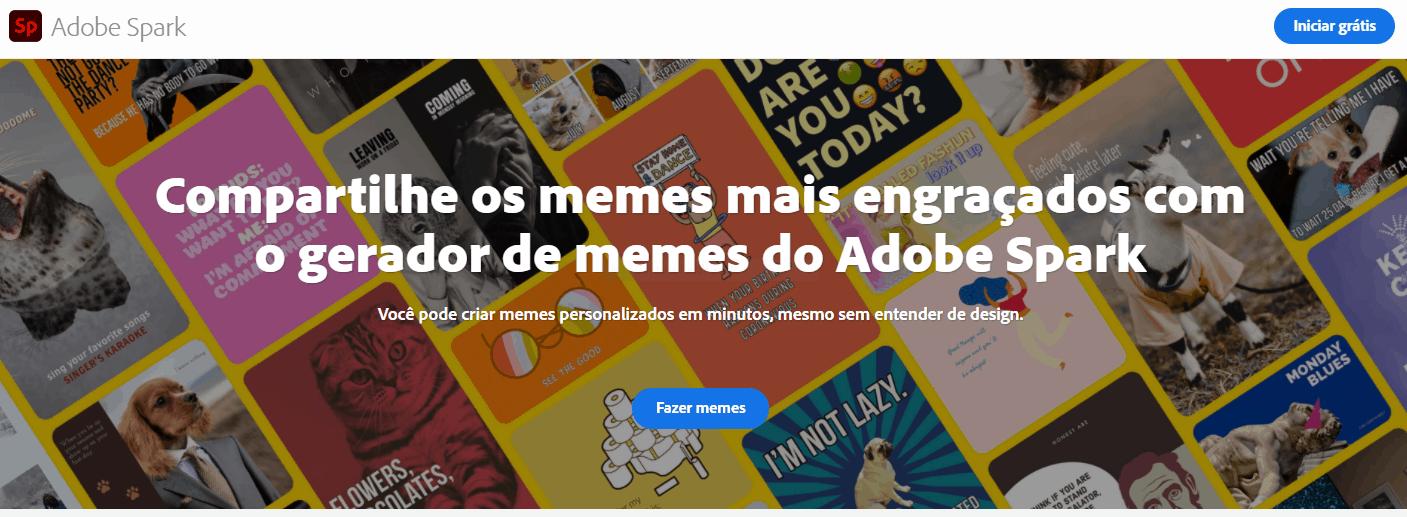 Gerador de memes Adobe Spark
