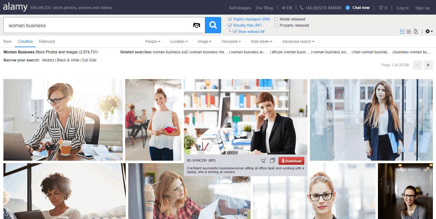alamy ferramenta de pesquisa de imagens
