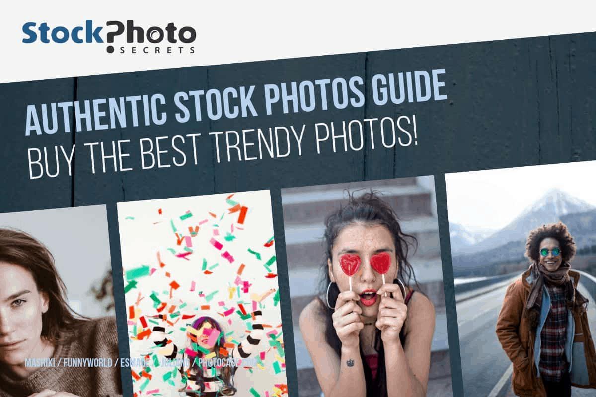 Guia de imagens de stock autênticas