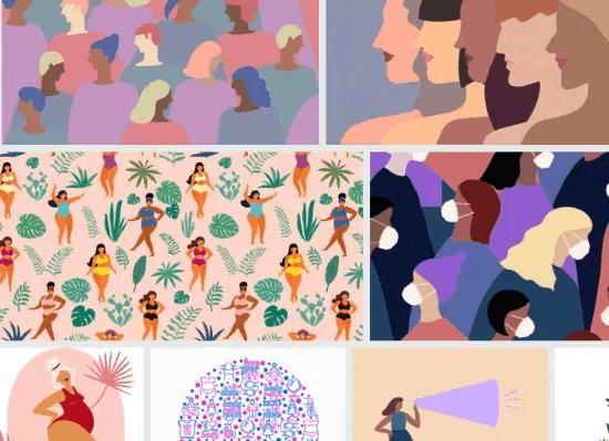 Mosaico de ilustrações iStock