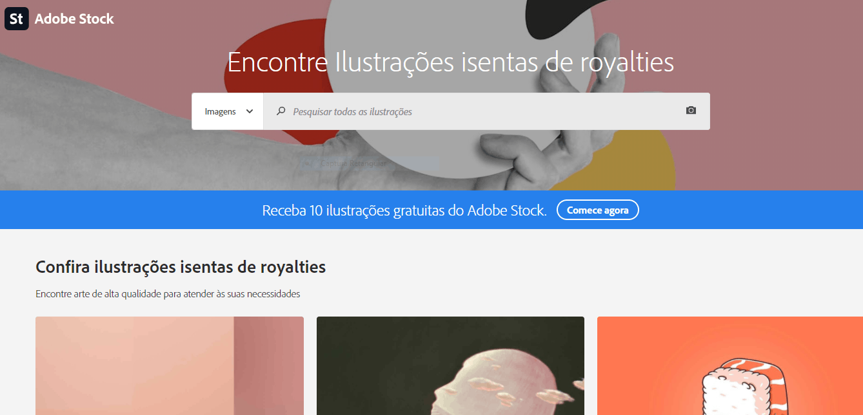 Página de ilustrações Adobe Stock
