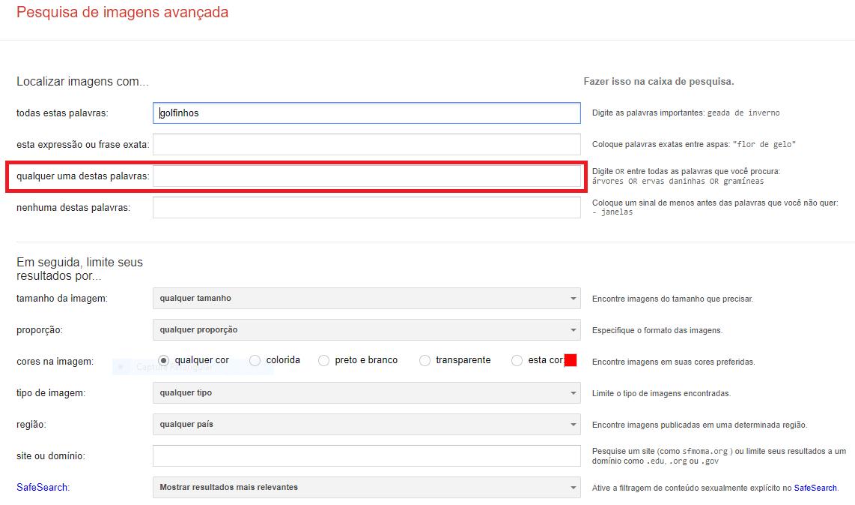 Como definir filtros para imagens de agências de stock