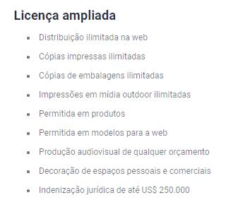 Licenças da Shutterstock Ampliada