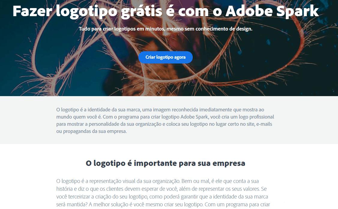 Criar logos com o Adobe Spark