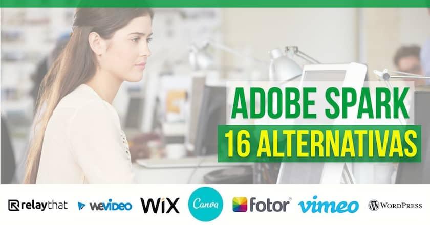 As 16 Melhores Alternativas ao Adobe Spark em [wpsm_custom_meta type=date field=year] para Gráficos, Páginas da Web e Vídeos! 1