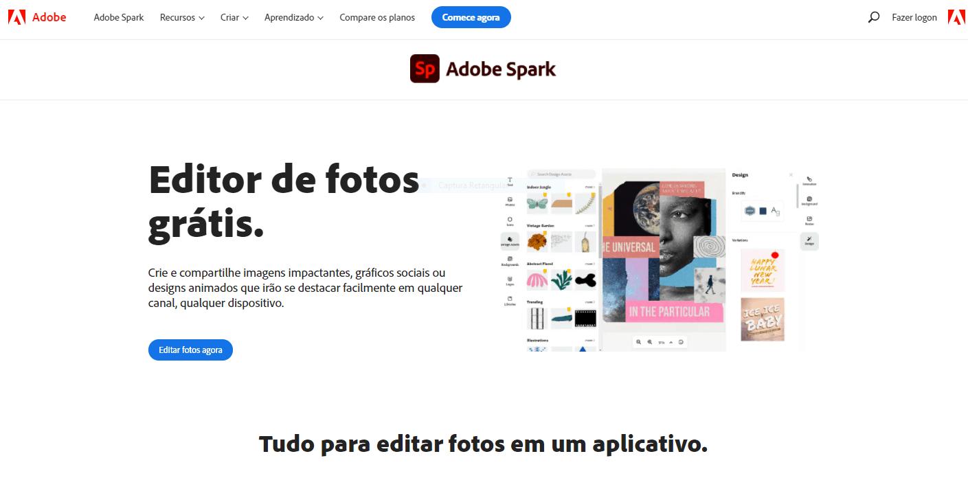 Adobe Spark Editor