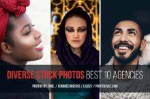 A diversidade em fotos de stock: 10 melhores agências com imagens de pessoas multiculturais